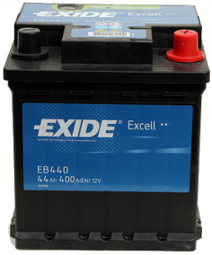 Exide Excell (44А/ч) R 400A (175x175x190)